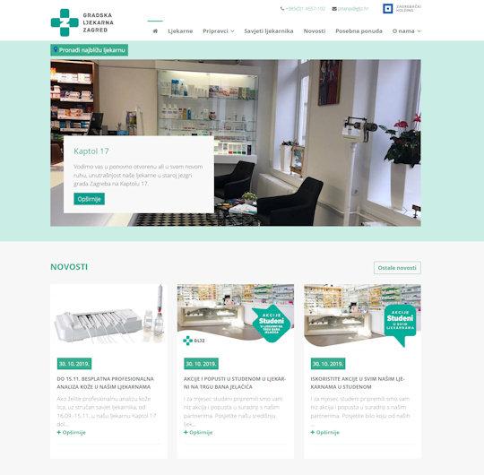 Web stranica za pronalazak ljekarnika